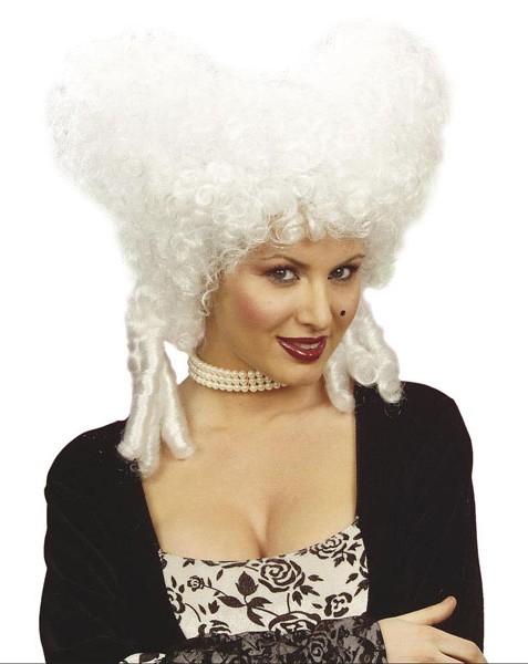 Weiße Rokoko Baronin Perücke Für Damen