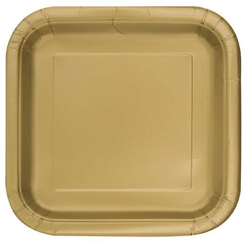 14 assiettes en papier Vera or 23cm