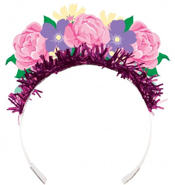 4 diademas de hadas de flores