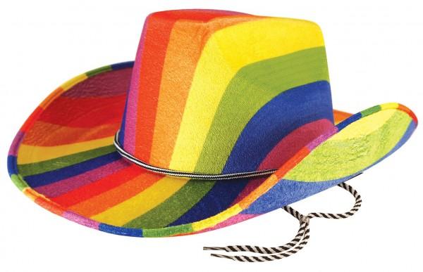 Tęczowy kapelusz kowbojski