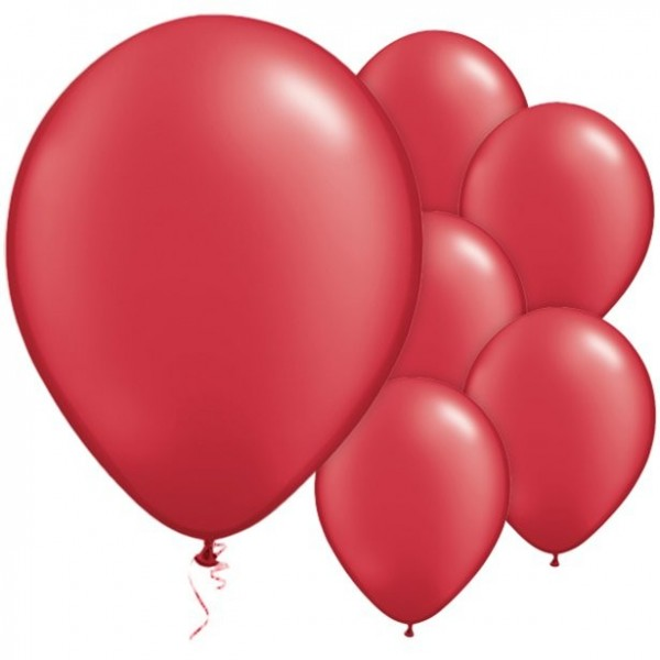 25 ruby red balloons Passion 28cm