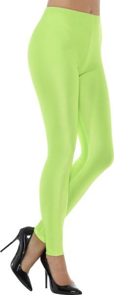 Neonowe zielone legginsy z lat 90