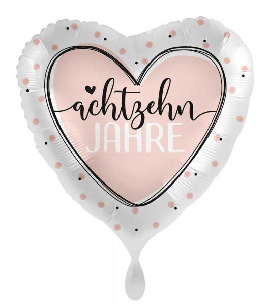 18. Geburtstag Ballon Shiny Heart 45cm