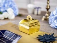 10 Gold metallic Geschenkboxen