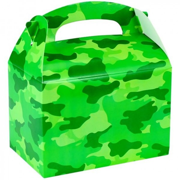 Coffret cadeau camouflage rectangulaire15cm