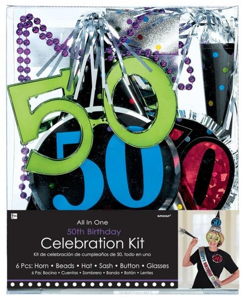 6-teiliges 50. Geburtstag Party-Set