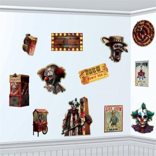 Horror Jahrmarkt Miniposter Set 12-teilig