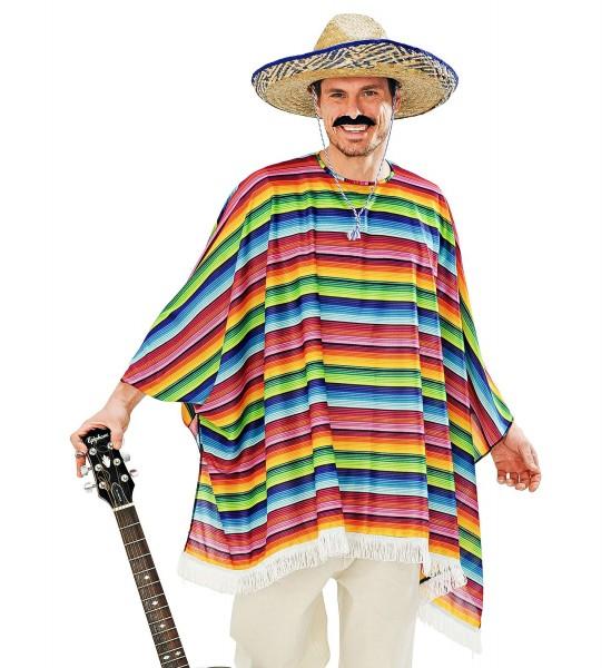 Poncho & Sombrero Mexikaner Set