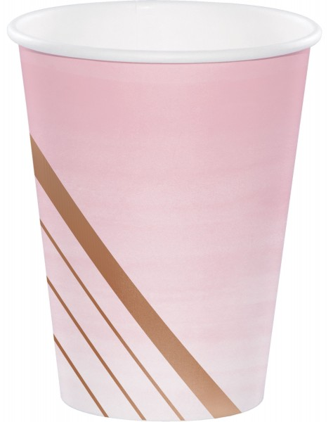 8 Rosy Blossom Pappbecher 355ml