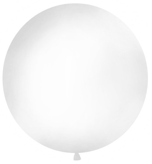 XXL balloon party giant white 1 w
