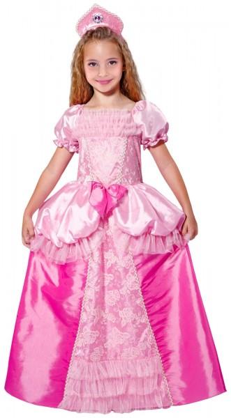 Rosa Glänzendes Prinzessinnenkostüm Deluxe Für Kinder