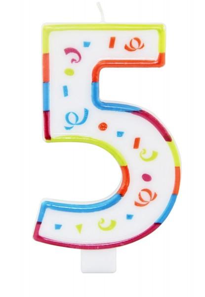 Grande bougie d'anniversaire numéro 5 XL