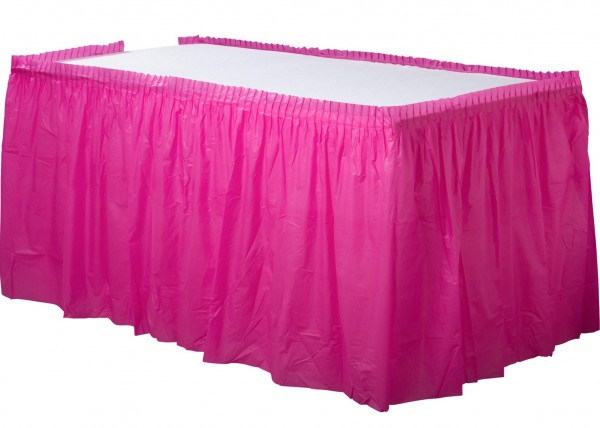 Bordure de table Mila fuchsia 4.26mx 73cm