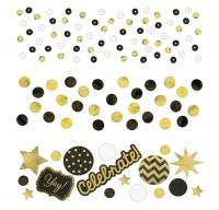 Gold-schwarzes Konfettipaket 34g