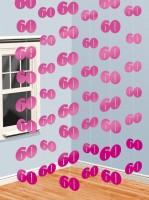 60th Celebration Hängedekoration Pink 210cm