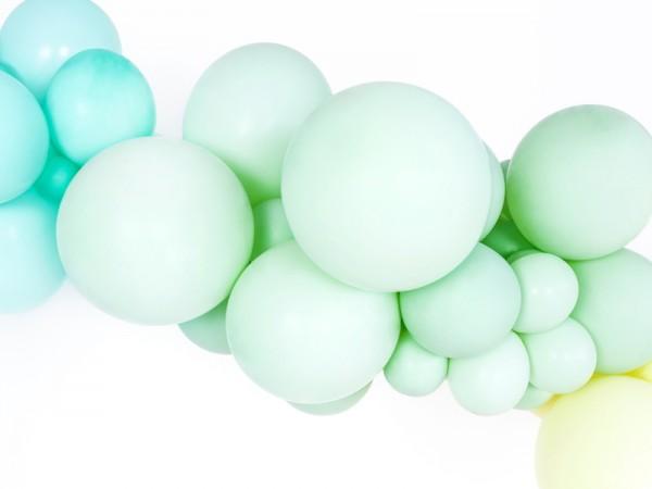 50 ballons étoiles pistache 27cm