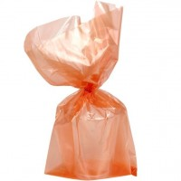 25 orangene Geschenktüten Cellophane 29cm