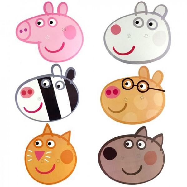 6 masques Peppa Pig