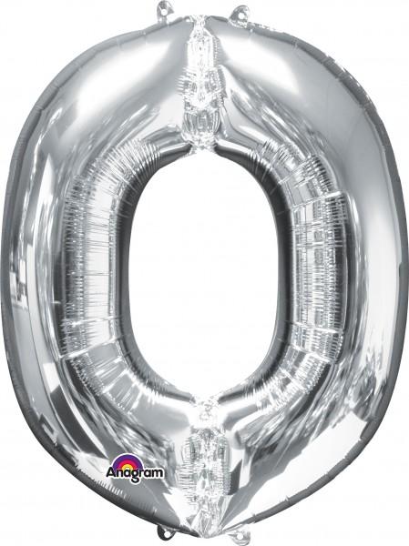 Folienballon Buchstabe O silber 83cm