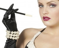 3-Reihiges 20er Jahre Perlenarmband Damen