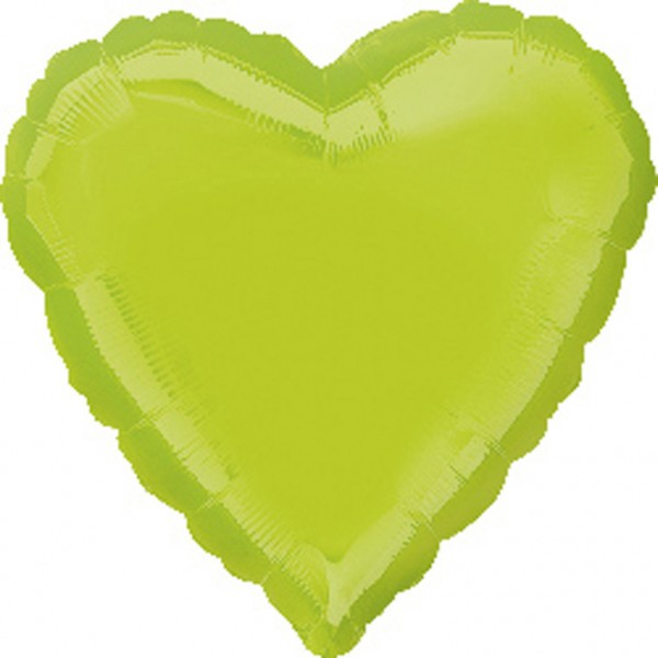May-green heart balloon 43cm