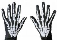 Halloween Horror Handschuhe Skelett Sensenmann