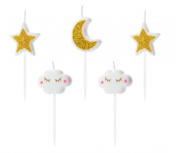 5 cake candles small star