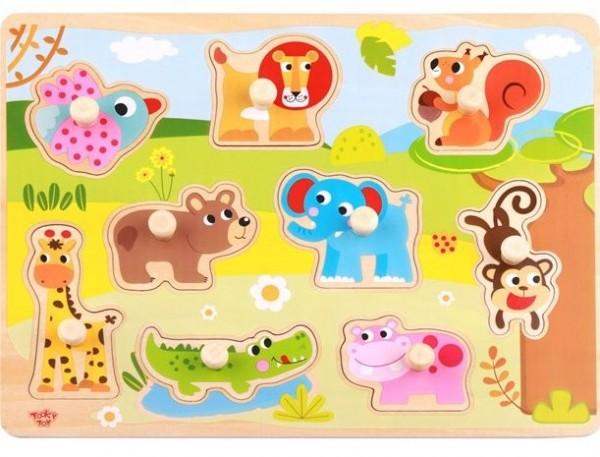 Süßes Tier Holz Puzzle