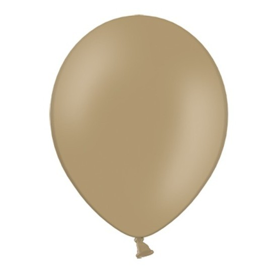 100 Pastellbraune Latexballons 13cm