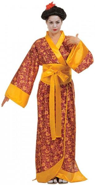 Gelb Goldener Geisha Kimono