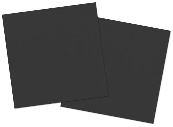 20 serviettes Cleo noir 33 x 33cm