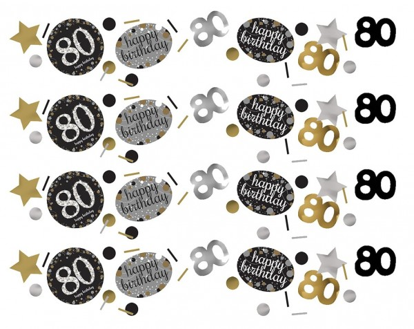 Golden 80th Birthday sprinkle decoration 34g