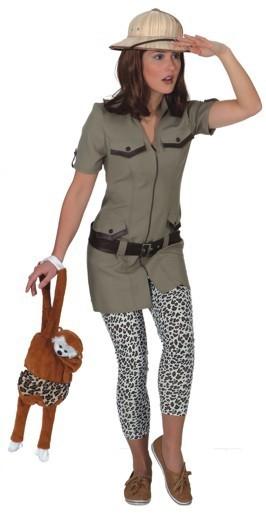 Olivfarbenes Ranger Kleid