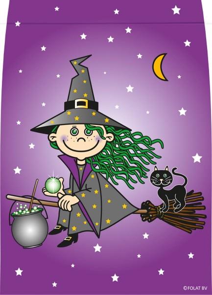 8 Geschenktüten Hexe fliegt durch die Nacht