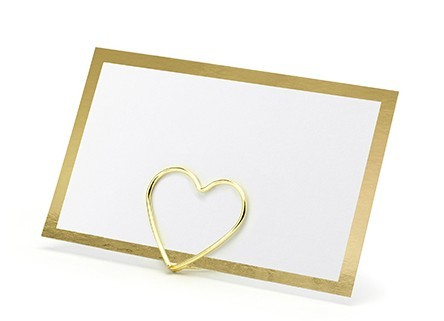 10 gold-edged place cards 9.5 x 5.5cm