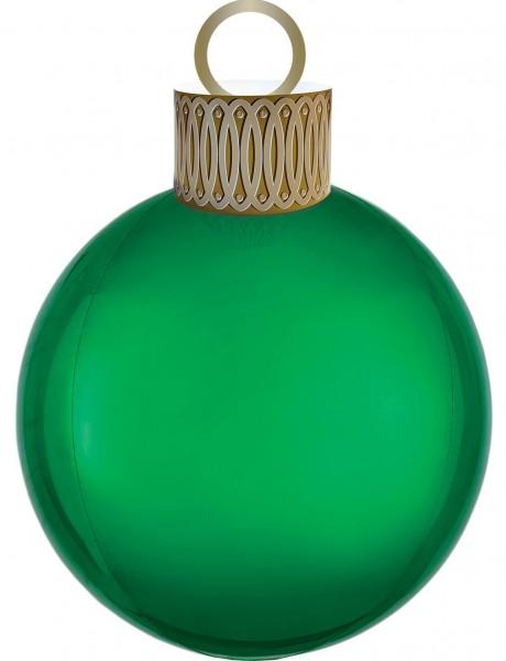 Weihnachtskugel Ballon grün 38 x 50cm