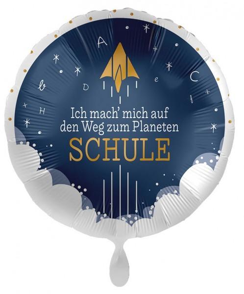 Planet Schule Folienballon 43cm