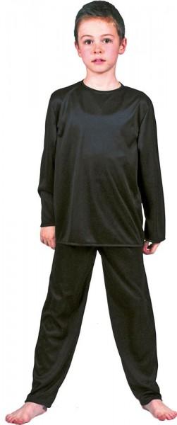 Langarmshirt Und Leggins In Schwarz Für Kinder