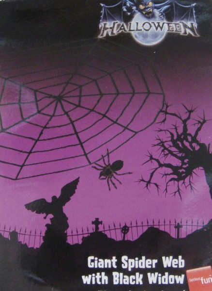 Spider Web Shocking Spider 150cm