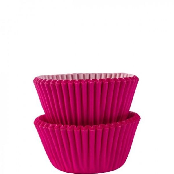 100 mini étuis à muffins roses 3cm