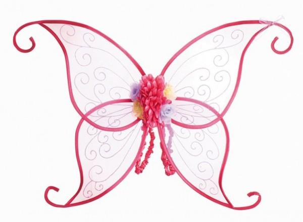 Różowe kwiaty elfa skrzydła