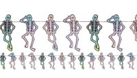 Crazy Skeleton Girlande 1,5m