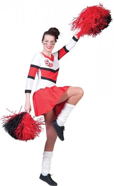 Carly Cheerleader Kleid In Rot Und Weiß