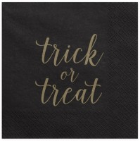 20 Trick or Treat Servietten 33cm
