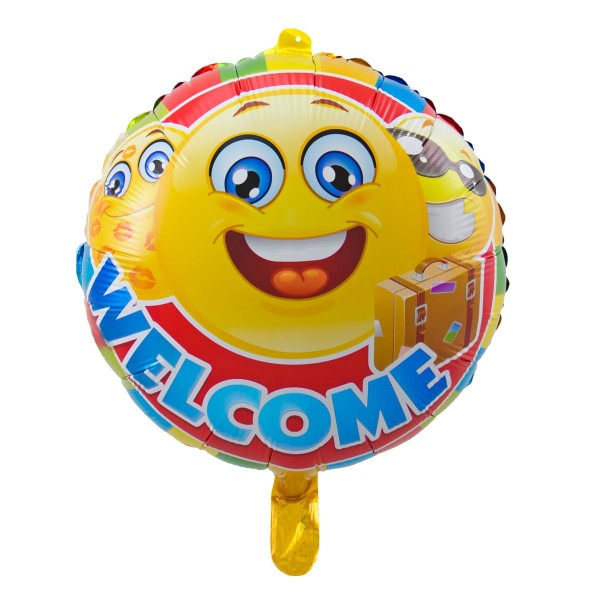 Folienballon Welcome Emojis 43cm