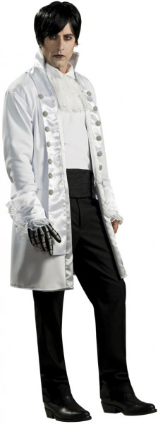 Goth costume men horror groom lattice ship captain white