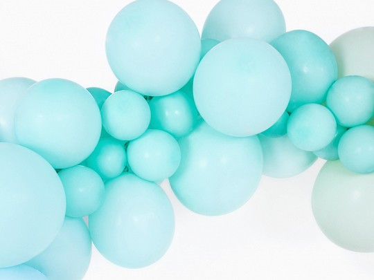 10 party star balloons mint turquoise 30cm