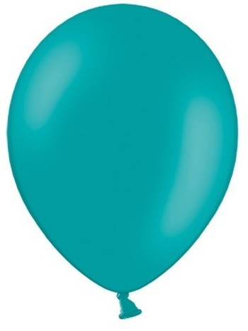 50 party star balloons turquoise 27cm