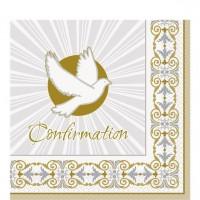 16 Strahlendes Kreuz Konfirmation Servietten 33 x 33cm