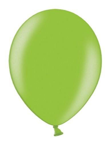 10 Metallic Green Luftballons 27cm 1